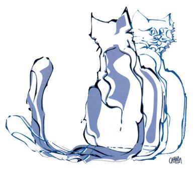 Il logo dell'Assoc. Il Gattile disegnato da Marino Cassetti.