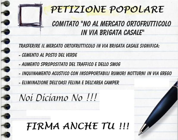 """Comitato """"No al Mercato Ortofrutticolo in via Brigata Casale"""" maggio 2014. Trieste"""