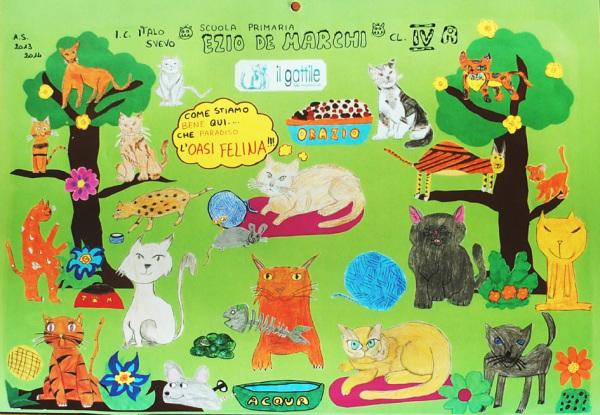 Poster Pro Oasi felina (2014) Cl.IV A Scuola Primaria Ezio de Marchi, Trieste