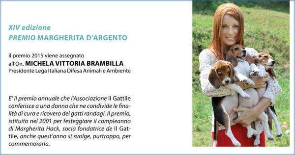 XIV Premio Margherita d'Argento 2015 all'On. Michela Vittoria Brambilla.