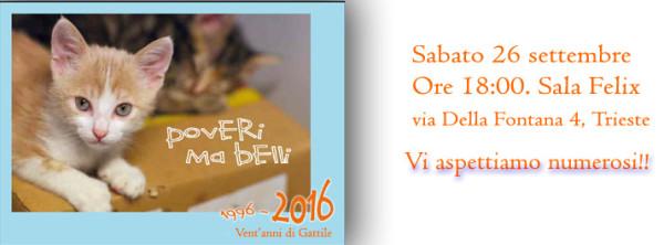 """Assoc. IL GATTILE onlus, calendario """"Poveri ma belli 2016"""""""