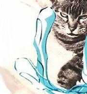 Geppetta in braccio a Margherita Hack. Disegno: Marino Cassetti.